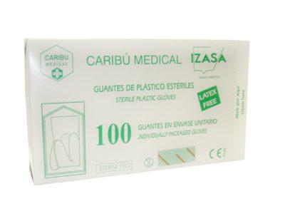 luva de plástico estéril C / 100 pedaços